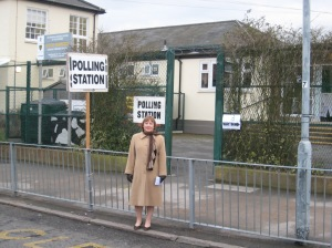 Outside the Polling station
