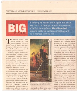Whitehall & Westminster World: The Big Issue