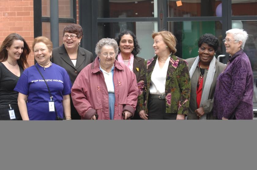 Michele Stokes & Hulya Degirmencioglu (Organisers), Nilgun Canver (Euro Candidate), Gwenda Owens, Cllr. Kaushika Amin, Gertrude Walker, Cllr. Sheila Peacock