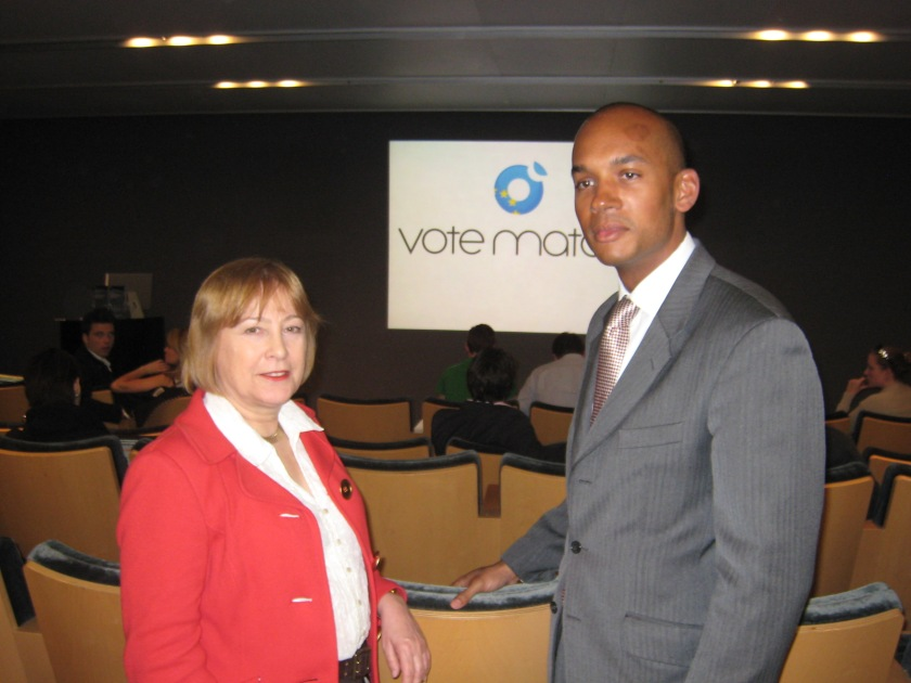With Chuka Umunna, Labour's candidate in Streatham at the next election.
