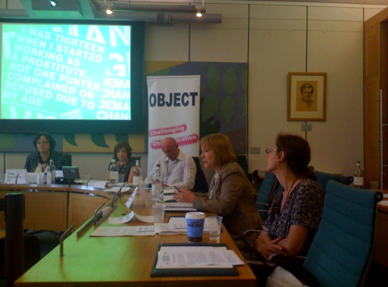 Answering questions at the DEMAND CHANGE! event in Parliament