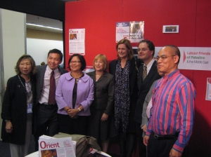 Sarah Brown and the Chinese for Labour Team