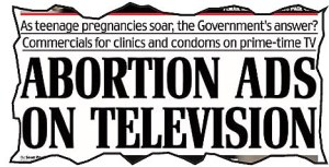 Daily Mail Abortion Headline