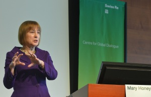 Mary Honeyball speaking at Swiss Re conference 040313